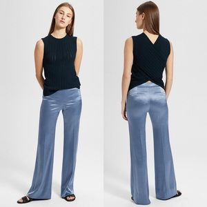 Theory Women's Clean Flare Pant Double Sateen NEW